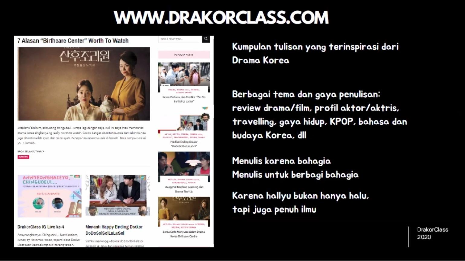 presentasi drakorclass