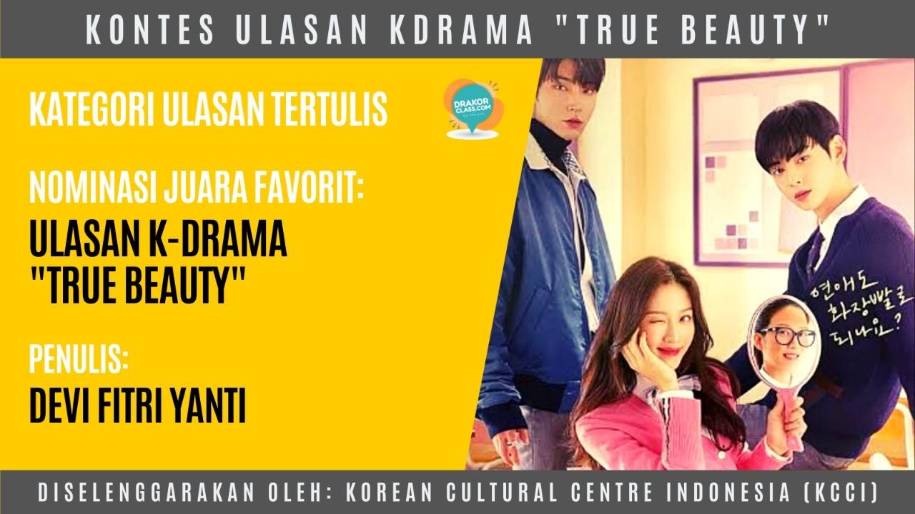 nominasi juara favorit kontes ulasan kdrama true beauty
